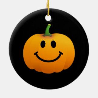 Halloween Pumpkin Smiley face Christmas Ornament