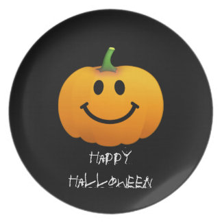 Halloween Pumpkin Smiley face Party Plates