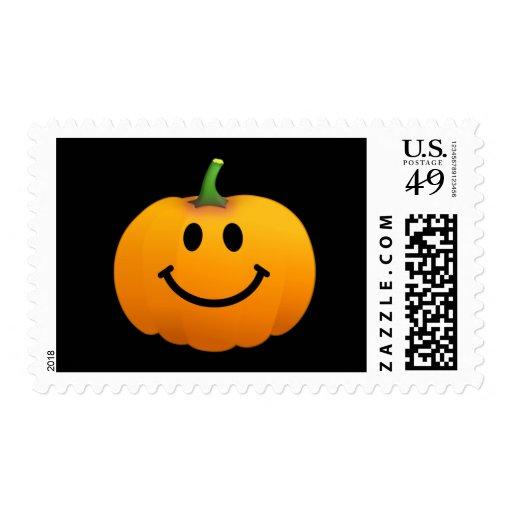 Halloween Pumpkin Smiley face Postage