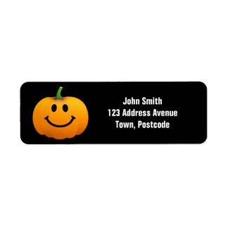 Halloween Pumpkin Smiley face Return Address Label