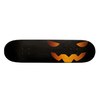 Halloween pumpkin smiley face skateboards