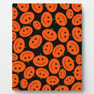 Halloween Pumpkin Smiley Plaque