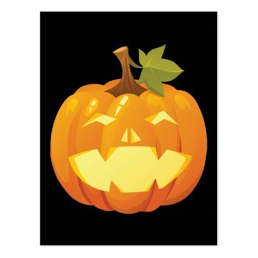 Halloween Pumpkin Smiley Postcard
