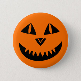 Halloween Pumpkin Smiling Button