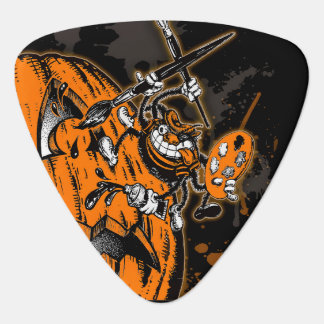 Halloween Pumpkin Spider Artist Guitar Pick