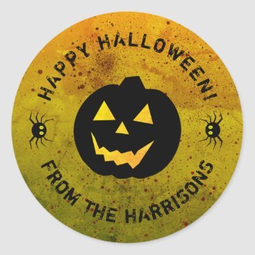 Halloween Themed Halloween Pumpkin Spiders Sticker (sheet of 20)