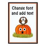 Halloween Pumpkin & Spooked Owl Card