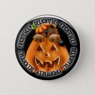 Halloween pumpkin spooky pinback button