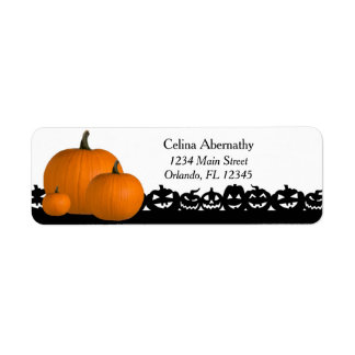 Halloween Pumpkin Spooky Return Address Label