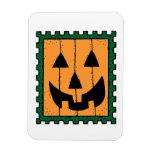 Halloween Pumpkin Stamp Rectangle Magnets
