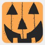 Halloween Pumpkin Stamp Square Sticker
