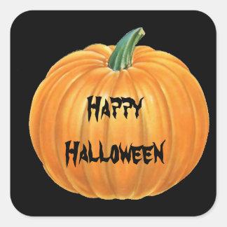 Halloween Pumpkin Sticker Square Stickers