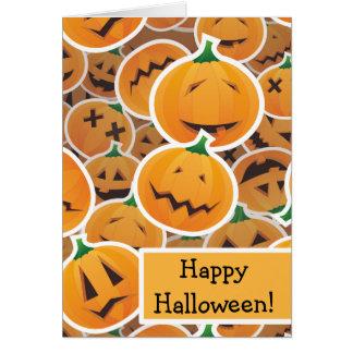 Halloween pumpkin stickters card