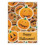 Halloween pumpkin stickters greeting card