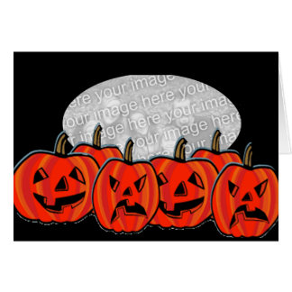 halloween pumpkin template greeting cards