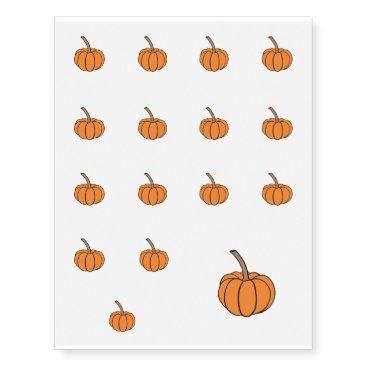 Halloween pumpkin temporary tattoos