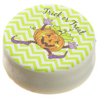 Halloween Pumpkin Treat Zigzag Chocolate Dipped Oreo