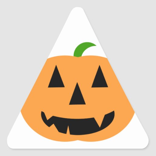 Halloween Pumpkin Triangle Sticker