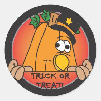 Halloween Pumpkin Trick or Treat Classic Round Sticker