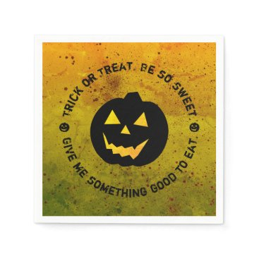 Halloween Themed Halloween Pumpkin Trick or Treat Paper Napkins