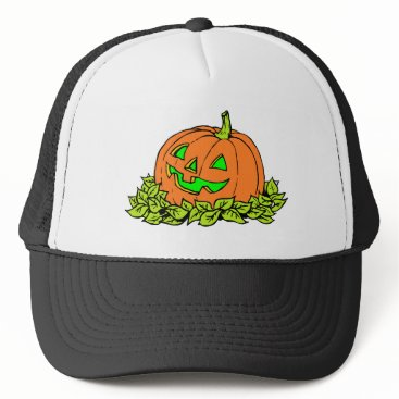 Halloween Themed halloween pumpkin trucker hat