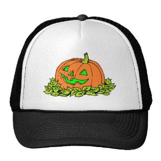 halloween pumpkin trucker hat