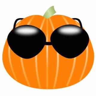 Halloween Pumpkin Wearing Sunglasses Acrylic Cut Out