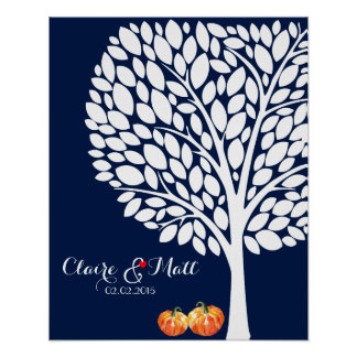 halloween pumpkin wedding signing guestbook