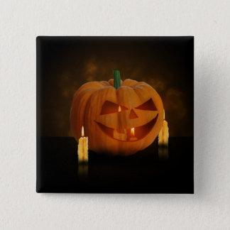 Halloween Pumpkin with Candles - Button