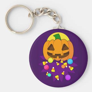 Halloween Pumpkin with Candy Keychain