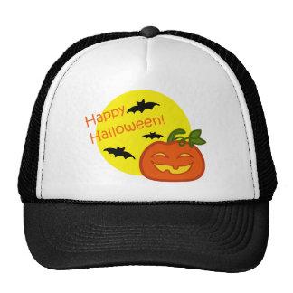 Halloween pumpkin with distressed background trucker hat