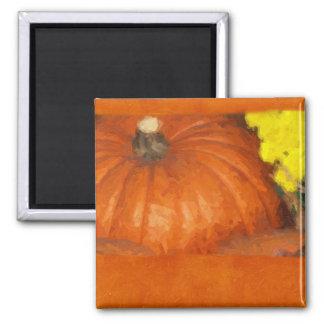 Halloween Pumpkins 1 2 Inch Square Magnet
