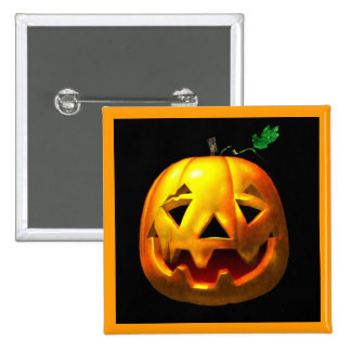 Halloween Pumpkins 2 Inch Square Button