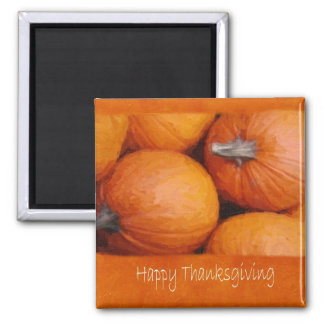 Halloween  Pumpkins 3 - Happy Thanksgiving 2 Inch Square Magnet