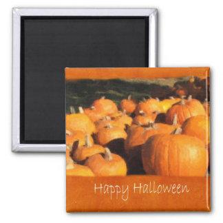 Halloween Pumpkins 4 - Happy Halloween 2 Inch Square Magnet