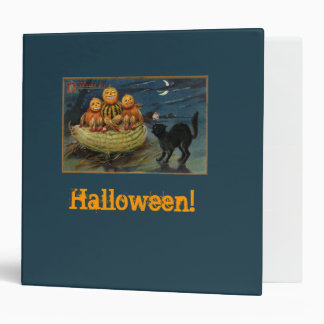 Halloween Pumpkins and Black Cat Binder
