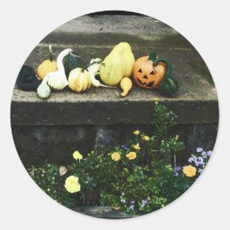 Halloween Pumpkins and Gourds Stickers