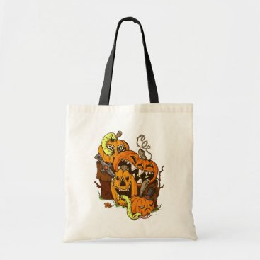 Halloween Themed Halloween Pumpkins and Snakes Budget Tote