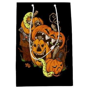 Halloween Themed Halloween Pumpkins and Snakes Gift Bag