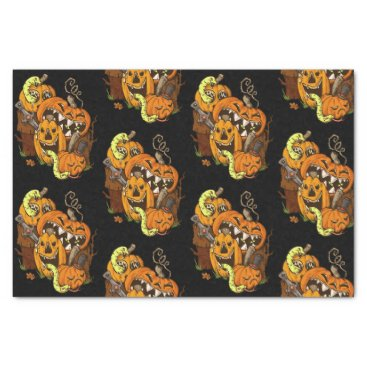 Halloween Themed Halloween Pumpkins and Snakes Tissue Paper