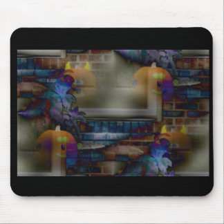 Halloween Pumpkins Apparation Mouse Pad