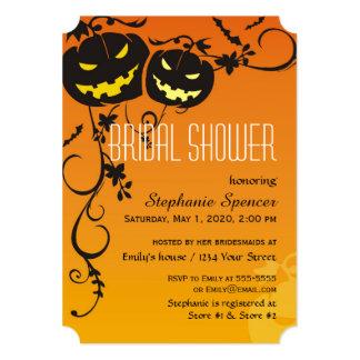 Halloween Pumpkins Bridal Shower Card