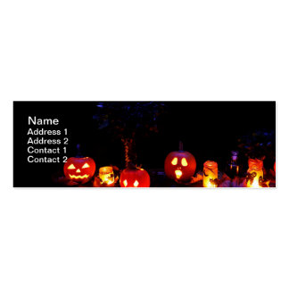 Halloween pumpkins Double-Sided mini business cards (Pack of 20)