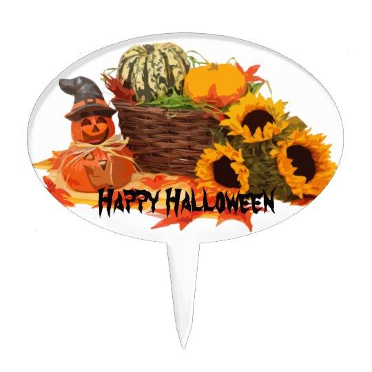 Halloween & pumpkins cake topper