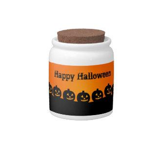 Halloween Pumpkins Candy Jars