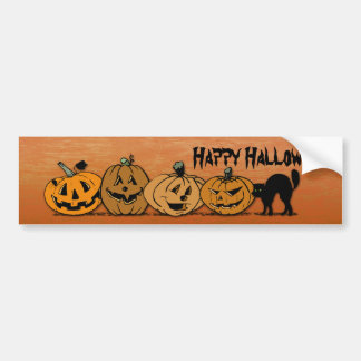Halloween pumpkins car bumper sticker