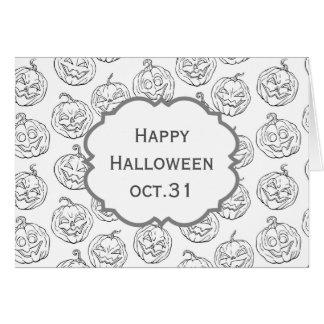 Halloween pumpkins card