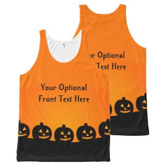 Halloween Pumpkins custom tank top