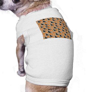 Halloween Pumpkins & Flying Bats Dog T-shirt