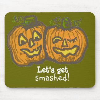 Halloween Pumpkins get smashed! Mouse Pad